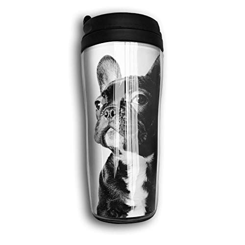 French Bulldog Travel Mug Coffee Thermos Stainless Steel Flask Water -
