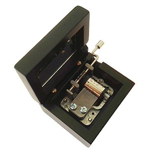 18nota musical, madera caja de música caja de regalo de madera manivela de mano), Lilium de Elfen Lied Caja de música,...
