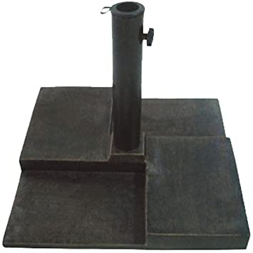DC America UBP25251 BR Square Cast Stone Umbrella Base, Made From Rust Free  Composite