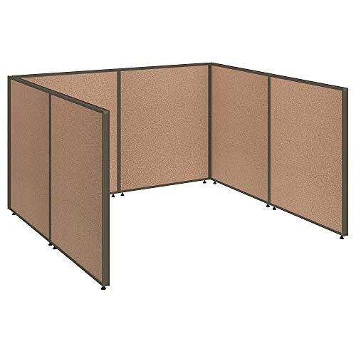 Bush Business Furniture Propanels Single Open Cubicle Office - Harvest Tan 76W X 74D X 43H Ergonomichome Bush Business Furniture Scroll Down for Product - Cubicle Propanel