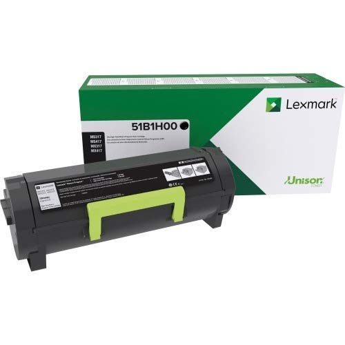 Lexmark Toner - Lexmark 51B1H00 MS417dn MX417de MS517dn MX517de MS617dn MX617de High Yield Return Program Cartridge Toner