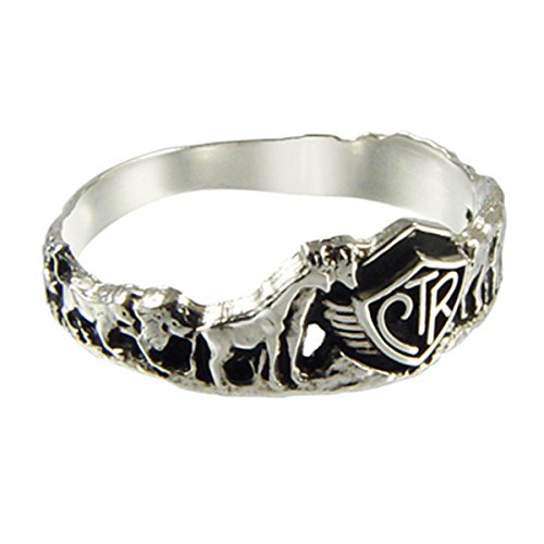 "Choose The Right CTR Ring ""Noah's Ark"" Sterling Silver Size (3 14)"