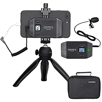 fulaim mx20 wireless lavalier microphone system for iphone dslr camera android cell. Black Bedroom Furniture Sets. Home Design Ideas