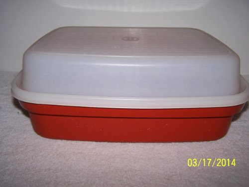 Tupperware Season Serve Container With Built-in Grids Red/Clear