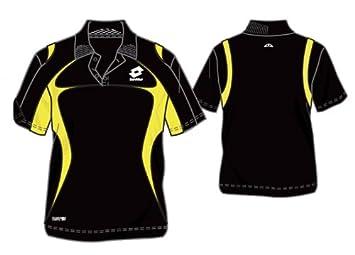 Lotto Bat PI - Polo para hombre, color negro y amarillo negro ...