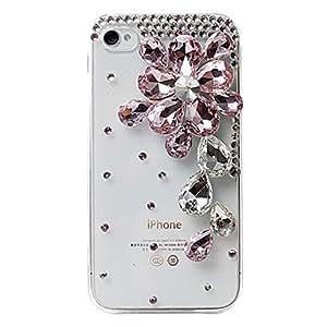 HP-Ctystal superficial caja de la flor del diseño para el iPhone 4/4S