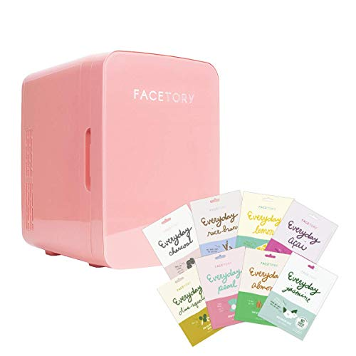 FaceTory Portable Beauty Fridge Everyday Bundle Set - Everyday Mask (Set of 8) and Portable Beauty Fridge