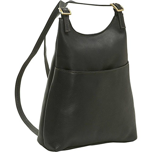 Le Donne Leather Women's Sling Backpack Purse, Black by Le Donne Leather