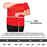 StrictlyStability 4XL Plus Size Bariatric Abdominal Binder | Hernia Support | Post Surgery Tummy & Waist Compression Wrap | Obesity Girdle Belt for Big Men & Women