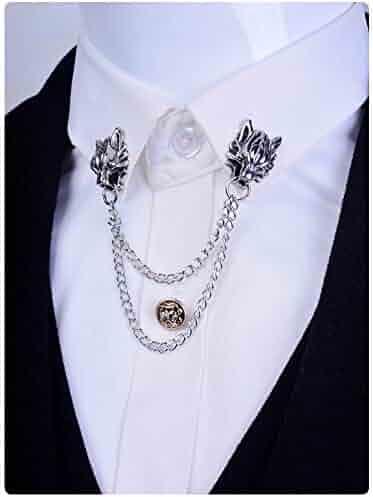 455cf90b4b6 Anime Cloud Strife Vintage Animal Wolf Head Metal Collar Brooches Brooch  Pin Badge Emblem Corsage Mens