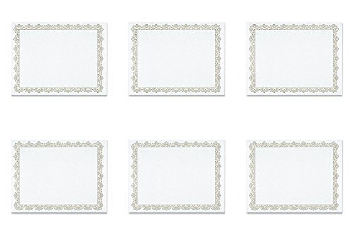 Geographics - Parchment Paper Certificates, 8-1/2 x 11, Optima Gold Border, 25 per Pack ()