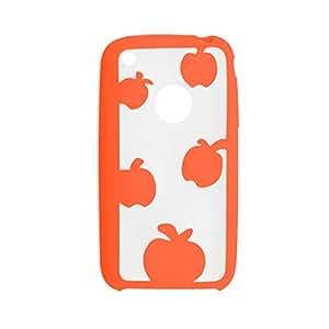 Naranja Borrar color dual de Apple Caso del modelo de plástico para el iPhone 3G