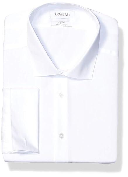 No Fit De Puño Francés Hombres Camisa Klein Calvin Hierro Slim 1ulKcTFJ35