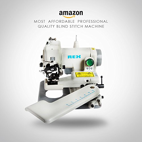 REX RX-518 All Metal Construction Portable Professional Grade Desktop Blindstitch, Cuffs, Failling Slack Bottoms, Hemming Dresses, Skirt and Coat Bottoms, Draperies, Negligees, Undergarments, Lapel Padding, Blouses Sleeves Machine ()