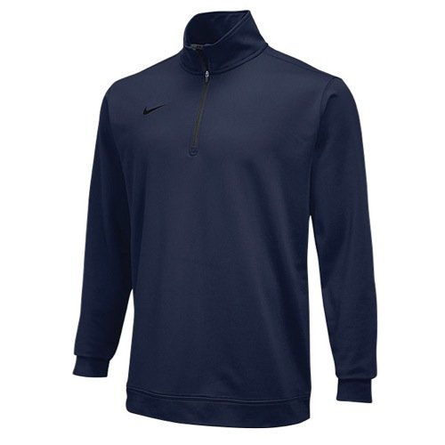Nike Dri-fit 1/4 Zip Top Navy Medium (Nike Mens Therma Long Sleeve Quarter Zip Shirt)