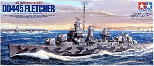 Tamiya America, Inc 1/350 US Navy DD445 Fletcher, TAM78012 (Fletcher Class Destroyer Model)