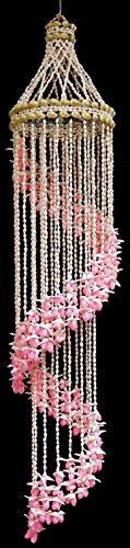 "Cheap 44"" pink Shell Chandelier"