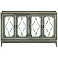 Treasure Trove 17324 Four Door Credenza, Grey