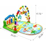 Mummamia Play As You Grow Baby Gym Mat With Piono And Toys - Multi Color