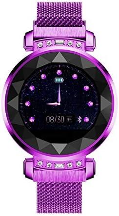 RZY SL08 1,04 Pouces Intelligent Bracelet, Soutien de fréquence Cardiaque et de la Pression artérielle Surveillance/Sommeil Surveillance/Appel Rappel (Gold) Agréable Purple