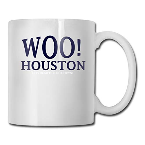 Riokk Az WOO Houston Lets Hear It for H-Town 11oz Coffee Mugs Funny Cup Tea Cup Birthday Gifts Ceramic -