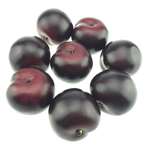 Gresorth 8pcs Artificial Lifelike Simulation Brin Plum Fake Fruits Photography Props Model by Gresorth