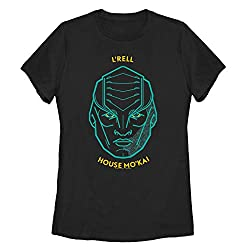 Fifth Sun Star Trek Women S Klingon L Rell Portrait Black T Shirt