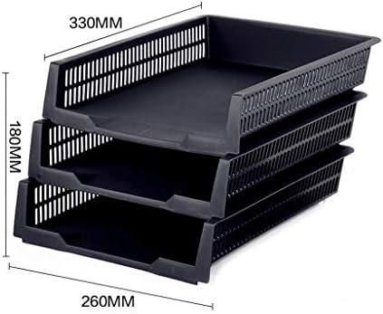 DHTOMC Aktenhalter, mehrschichtiges Gestell, Schreibtisch-Aufbewahrungsbox, Bücherständer, Korb, Aktenhalter (Farbe: B) Xping C