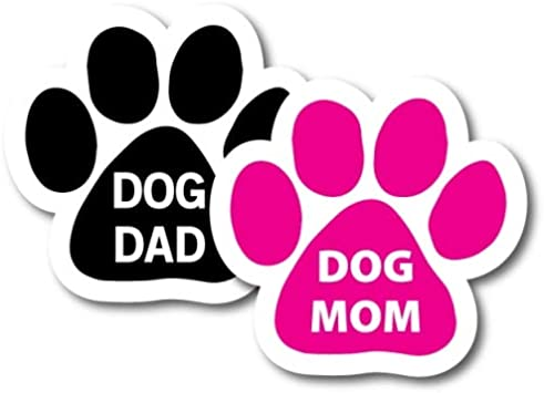 Dogs on Board Magnet 5 inch Pink Paw Print Magnet Decal Great for Car or Fridge
