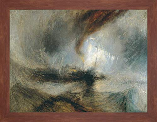 Snow Storm - Steam Boat Off a Harbours Mouth by William Turner - 22