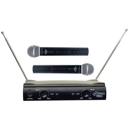 Pdwm2500 Dual Vhf Wireless Microphone - PYLE PRO PDWM2500 Dual VHF Wireless Microphone System Home, garden & living