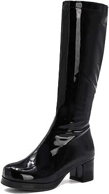 LIURUIJIA Women's Go Go Boots Bright