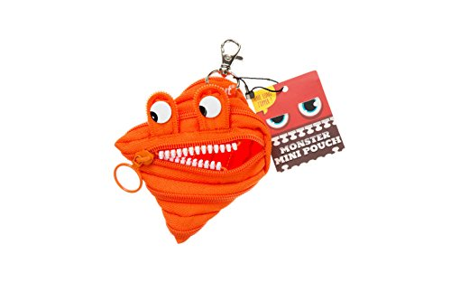 ZIPIT Monster Mini Pouch Coin Purse, Orange Photo #4