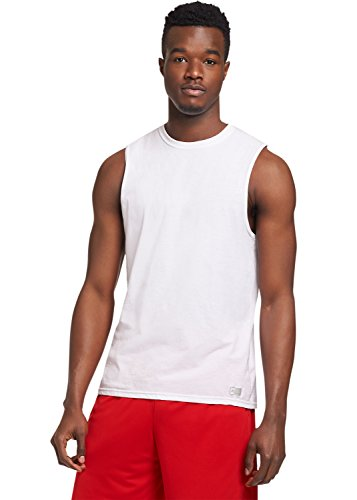's Essential Muscle T-Shirt,White,Medium ()