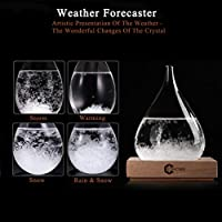 3D HOME Storm Glass Weather Stations Water Drop Weather Predictor Creative Forecast Nordic Style Decorative Weather Glass (Medium) by 3D HOME®