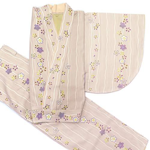 二部式着物 洗える着物 袷 単品 小紋柄の着物 Mサイズ「グレー系」HANM1811