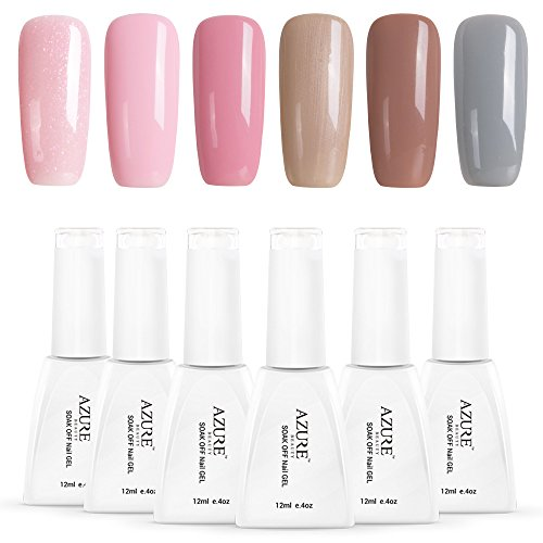 Azure Beauty Gel Nail Polish Soak Off UV LED Shiny Nail Lacquer Manicure Art Set 12ml WSGP19