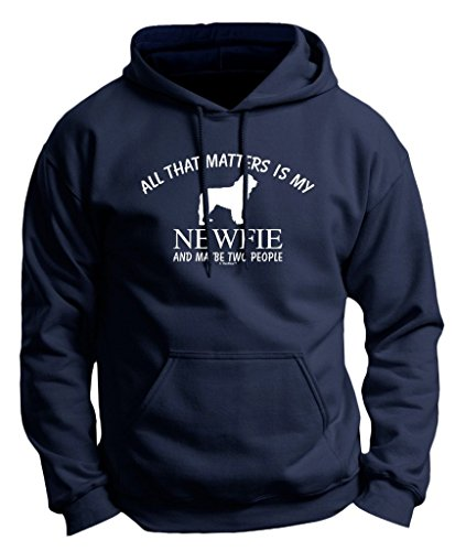 Dog Lover Gifts Newfie Newfoundland That's All Matters Two People Premium Hoodie (Newfoundland Baseball Cap)