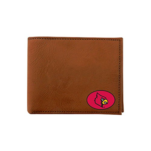 NCAA Louisville Cardinals Classic Football Wallet, One Size, Brown