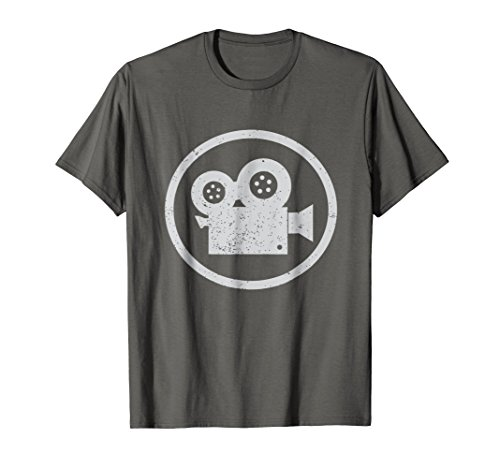 Mens Filmmaker T Shirt Gift for Cameraman or Movie Buff Geek Large Asphalt