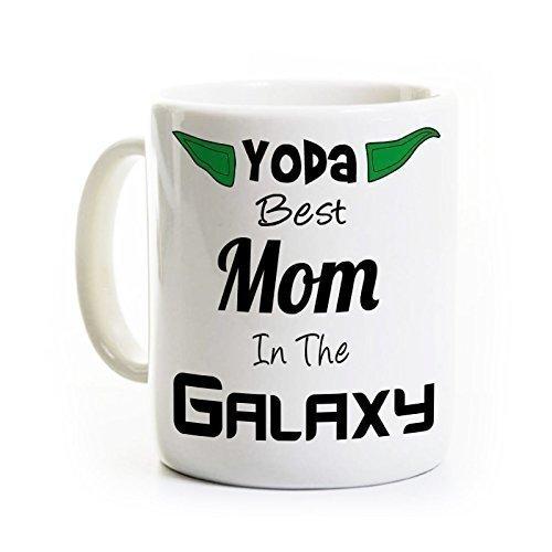 Yoda Best Mom Galaxy Mug product image