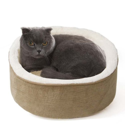 JLA Pets Elephant Skin Kitty Kup 16-Inch Cat Bed, Tan, My Pet Supplies