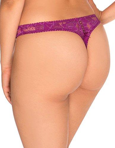 Sans Complexe 30564 Women's Arum Amethyst Purple Lace Panty Thong