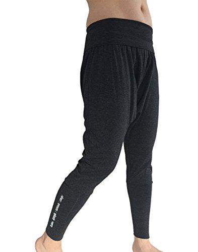 Karmala Bamboo Baggy Harem Pants, Soft and Eco-Friendly, Medium, Dark Grey