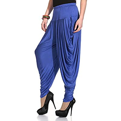 Legis Relaxed Comfortable Cotton Blend Dhoti Pants Yoga Fitness Active wear for Women Dance - Free Size