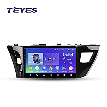 TEYES Octa core 2GB RAM 32GB ROM 10 inch Screen Android 8.1 Universal Car Multimedia Player Stereo for Toyota Corolla 2013 2014 2015 2016 E170 E180 Rear View Camera