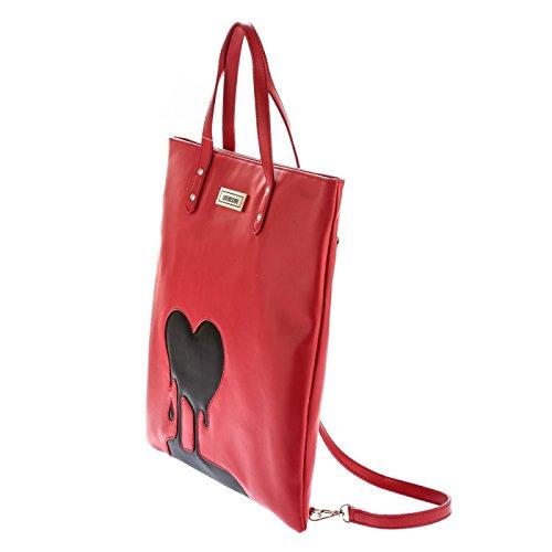 Love Moschino , Sac à main pour femme Rouge/noir