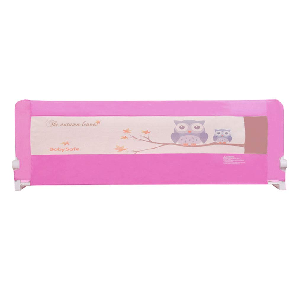 クイーンサイズキッズベッドの安全レール垂直持ち上がる耐久性のある安全保護ガード - 幼児の赤ちゃんと子供のための落下防止ベッドガードレール 200cm(78.7 inch) Pink B07QLX1P84
