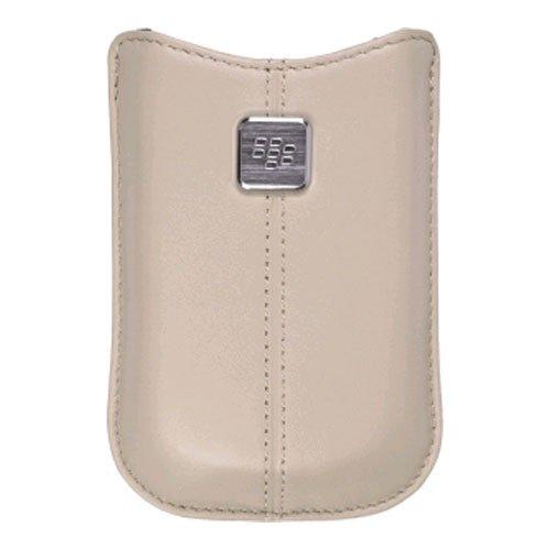 Pearl Blackberry Flip Cover (BlackBerry OEM Pearl Flip 8220 Kickstart Leather Pocket Case (Oyster))