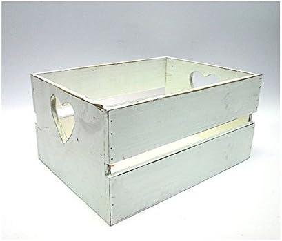 L. madera caja blanca c/corazón 28 x 20,5: Amazon.es: Bebé